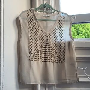 Search For Sanity beaded sheer blouse NWOT
